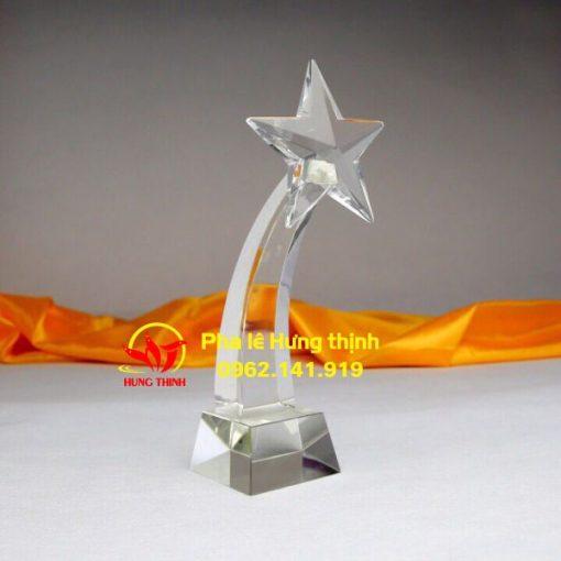 cúp pha lê ngôi sao 3D mẫu 2