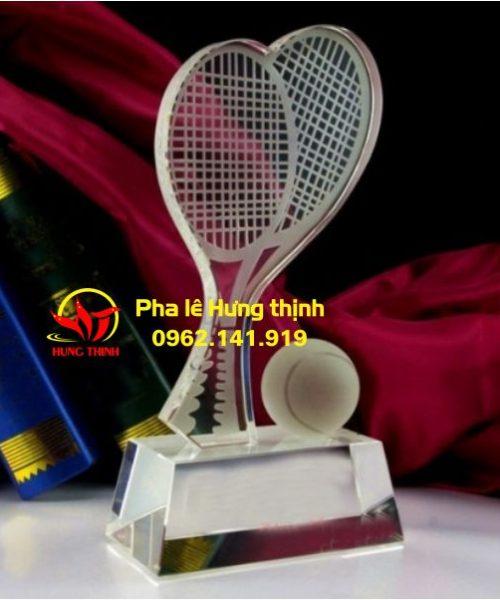Cúp pha lê vợt tennis mẫu 2