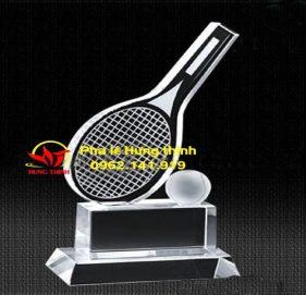 Cúp pha lê vợt tennis mẫu 3