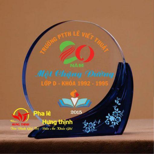 kỷ niệm chương pha lê hình tròn mẫu 5