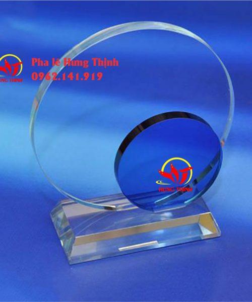 kỷ niệm chương pha lê hình tròn mẫu 3a