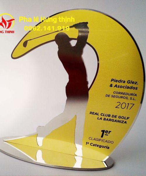 Kỷ niệm chương pha lê giải golf Mẫu 8