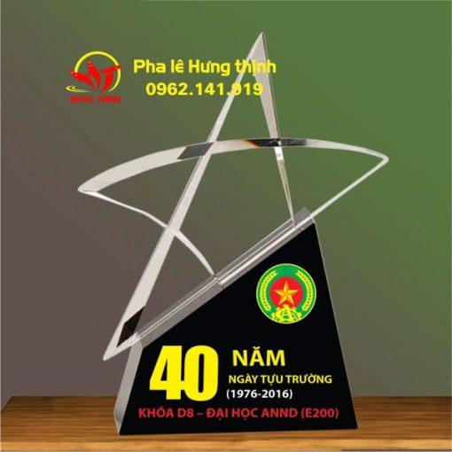 kỷ niệm chương pha lê ngôi sao mẫu 6