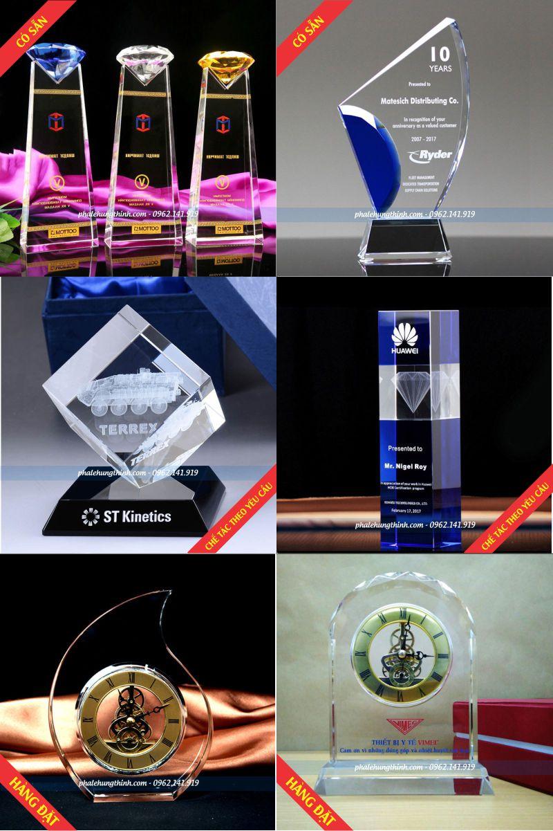 6 mẫu Kỷ niệm chương pha lê cao cấp