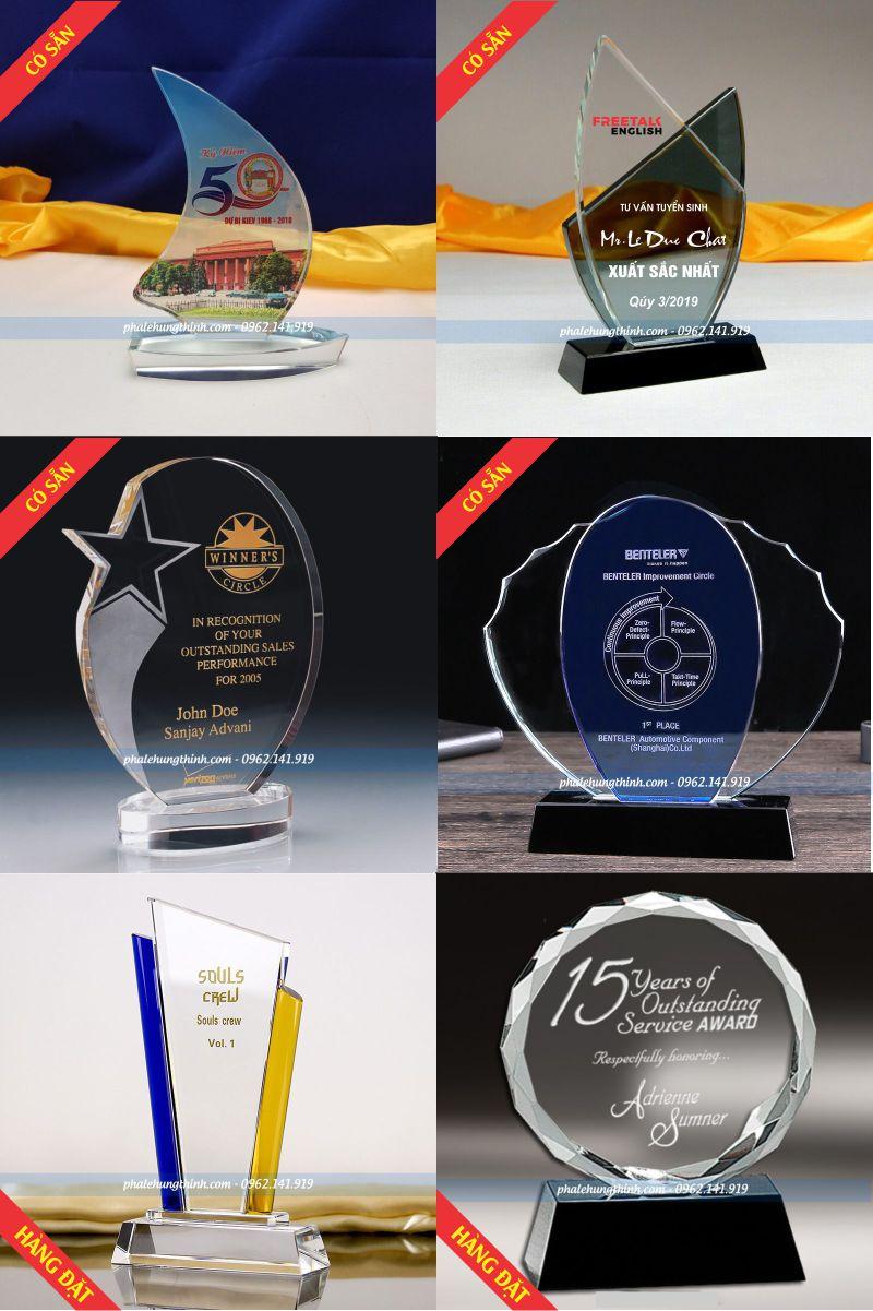 6 mẫu kỷ niệm chương pha lê đẹp