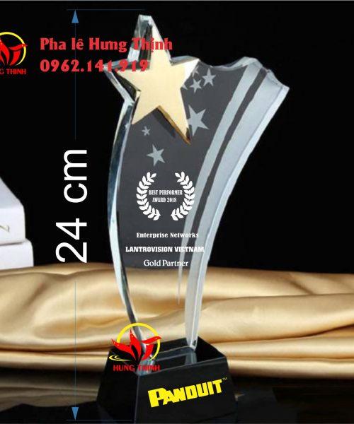 kỷ niệm chương pha lê ngôi sao mẫu 3a