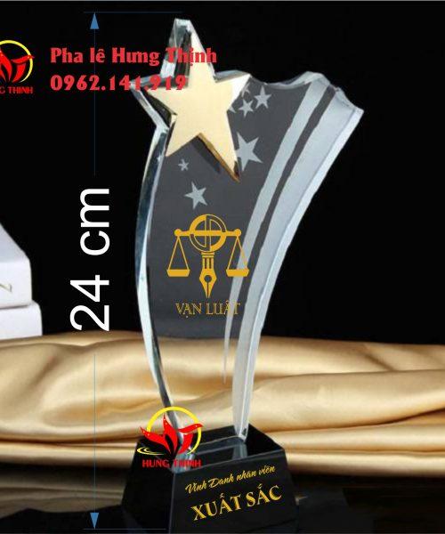 kỷ niệm chương pha lê ngôi sao mẫu 3