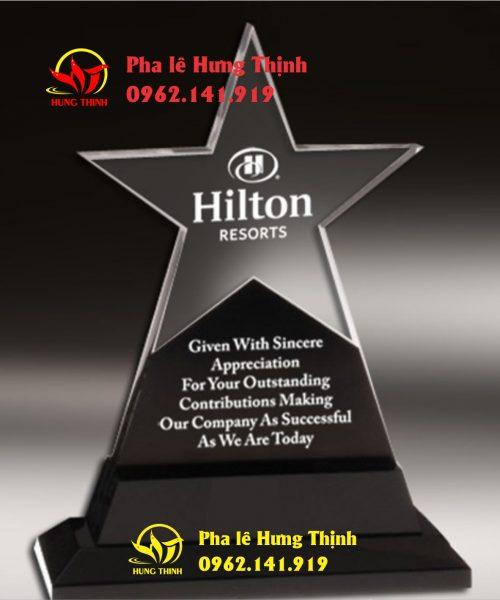 kỷ niệm chương pha lê ngôi sao mẫu 13
