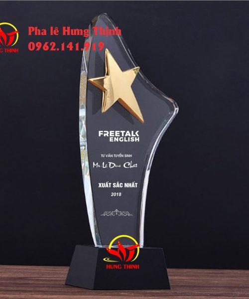 kỷ niệm chương pha lê ngôi sao mẫu 3b