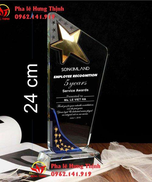 kỷ niệm chương pha lê ngôi sao mẫu 4b
