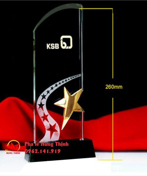 kỷ niệm chương pha lê ngôi sao mẫu 5b