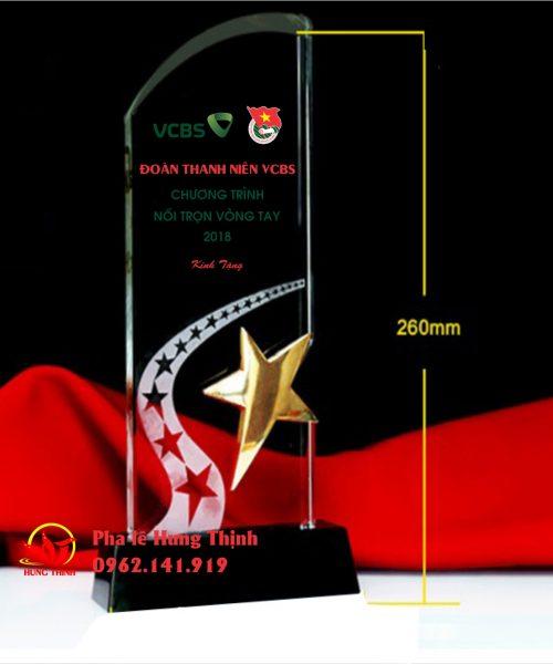 kỷ niệm chương pha lê ngôi sao mẫu 5a