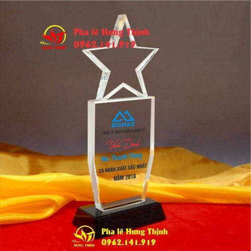 kỷ niệm chương pha lê ngôi sao mẫu 9a