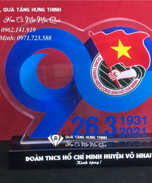 Bộ số pha lê kỷ niệm 90 năm ngày thành lập đoàn 02